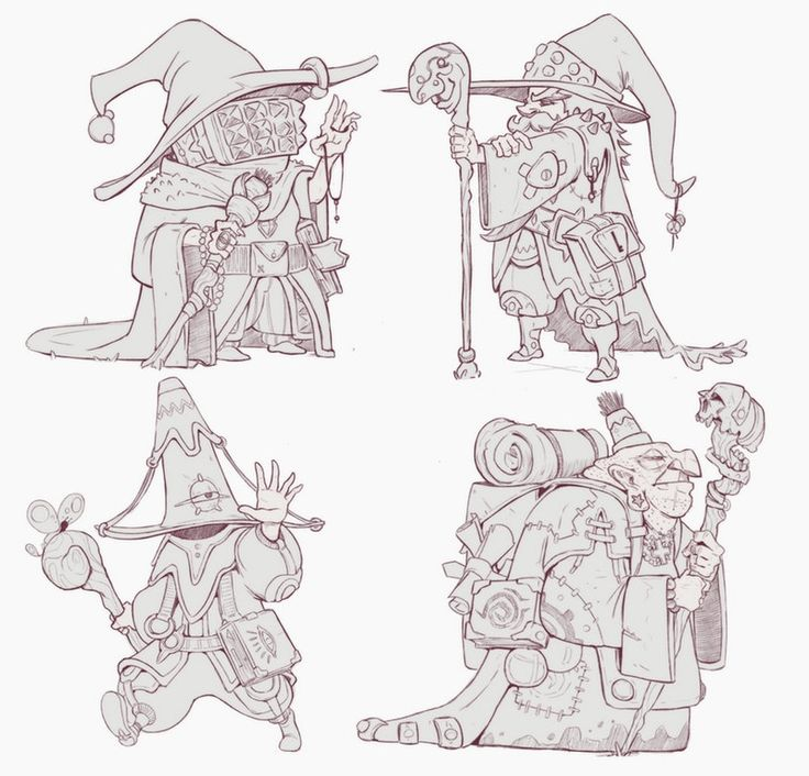 Some Wizards : drawing