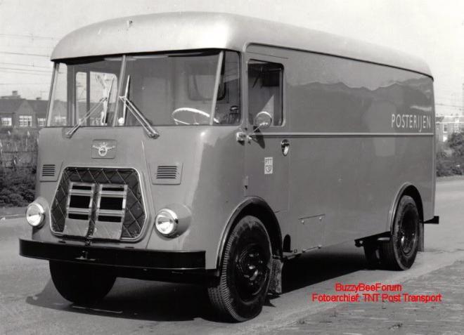 1958 DAF A1600 kastwagen PTT