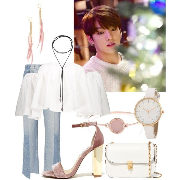 Easter. #8 Jungkook by ashzck on Polyvore featuring AG Adriano Goldschmied, Steve Madden, Valentino, Shashi, Michael Kors, bts and jungkook