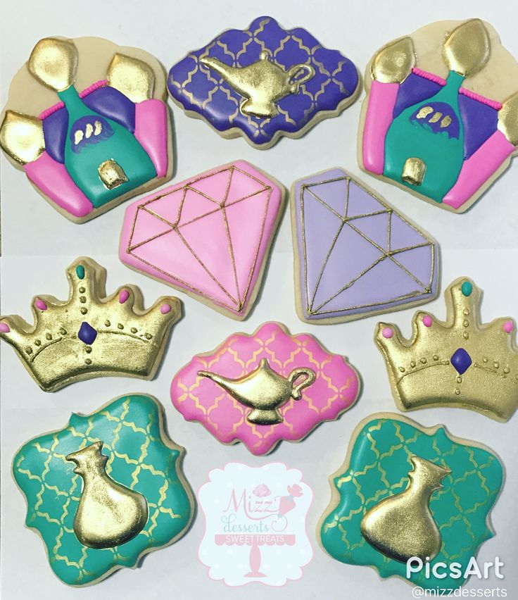 Shimmer and Shine Themed Sugar Cookies By: MizzDesserts