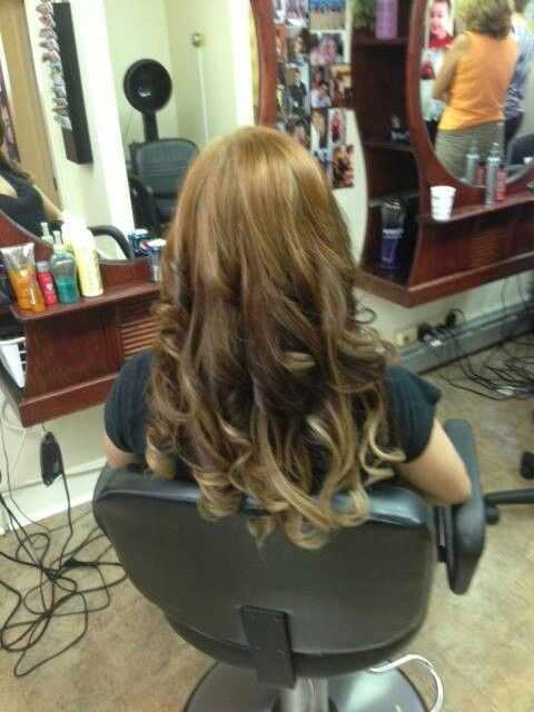After Photo Of Hot Heads Hair Extensions