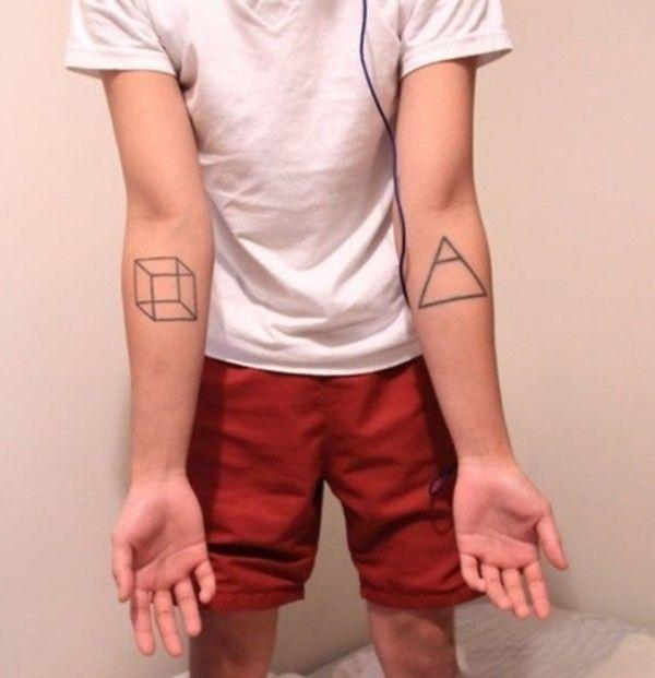 73 fotos de Tatuagens geométricas   Tinta na Pele
