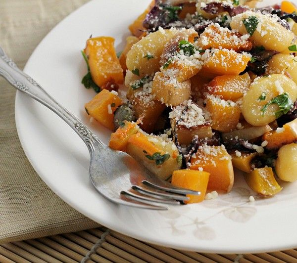 Pumpkin gnocchi with winter squash and seared radicchio from Eats Well ...