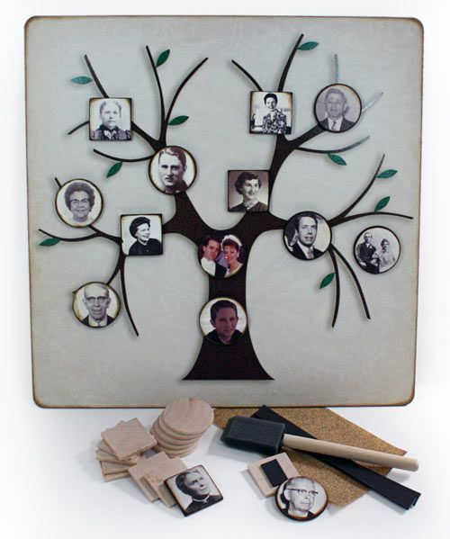 Great way to display photos and your heritage.  Wonderful Family tree!!!