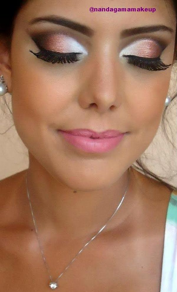 Smokey Peach Eye Makeup
