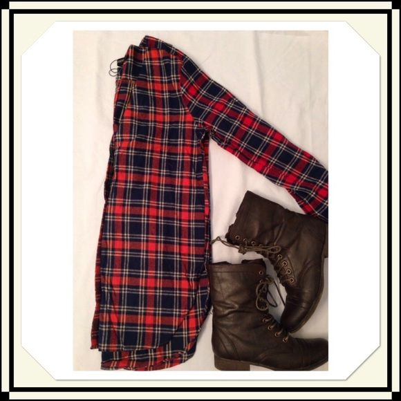 Flannel Tunic Junior Large Junior size flannel tunic. Two two color as shown in last picture! NWT Tops Tunics