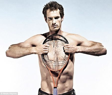 Andy Murray Muscling Racket