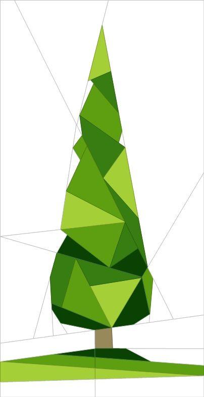 "Forest Chums - Tree 12"" (31cm) quiltartdesigns.blogspot.com"