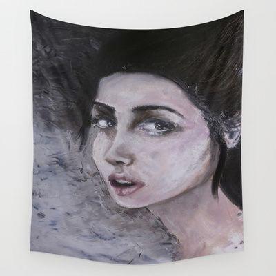 wall tapestry @society6 #art #woman