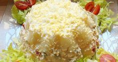Pastel frío de patatas y atún