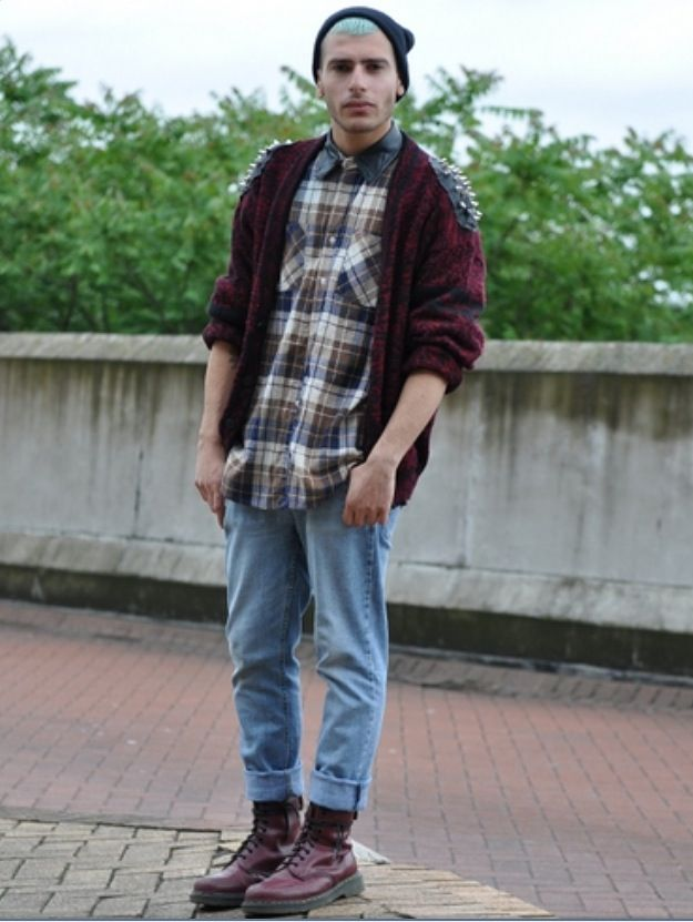 Men\u0027s grunge fashion