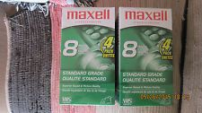 Lot of 8 Maxell Sealed Video Cassette Tapes 8 Hours Premium Grade VHS T-160