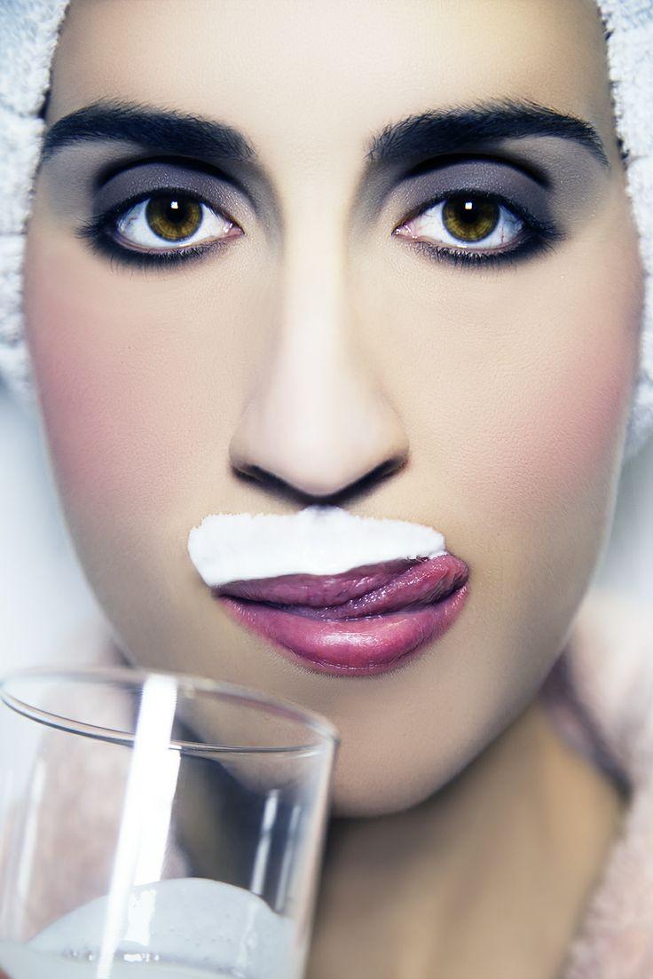 Woman portrait, milk love, beauty, extravagance, portraiture, woman, fashion, retouching, photography, movember