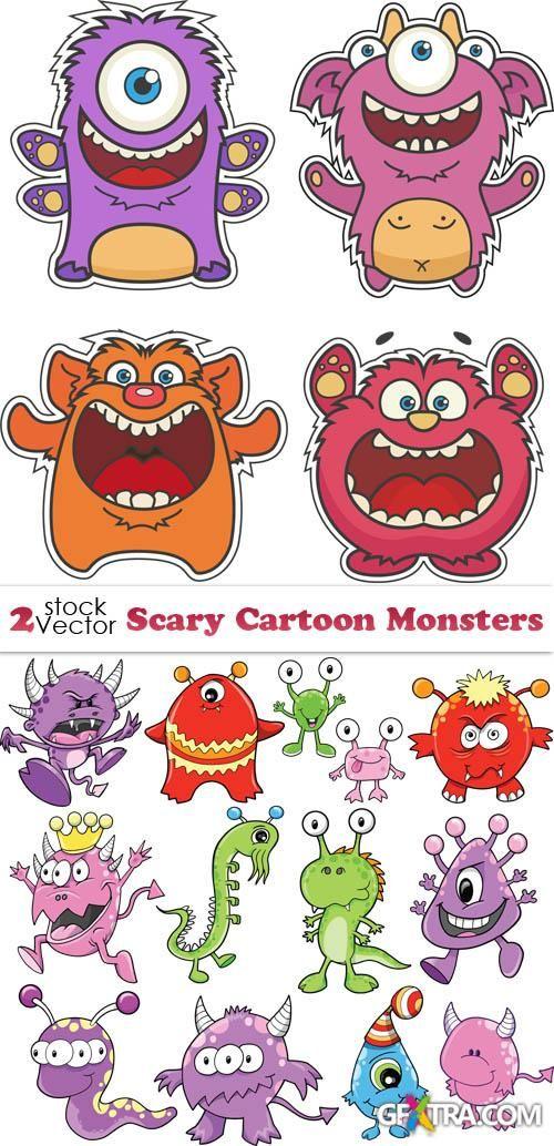 Vectors - Scary Cartoon Monsters