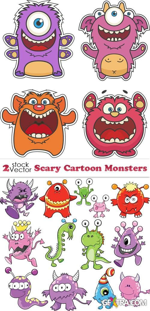 Vectors - Scary Cartoon Monsters