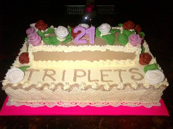 my birthday cake for the beautiful girls Beccie , Laura and Hannah,