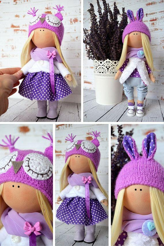 Rabbit doll Interior doll Home doll Art doll by AnnKirillartPlace