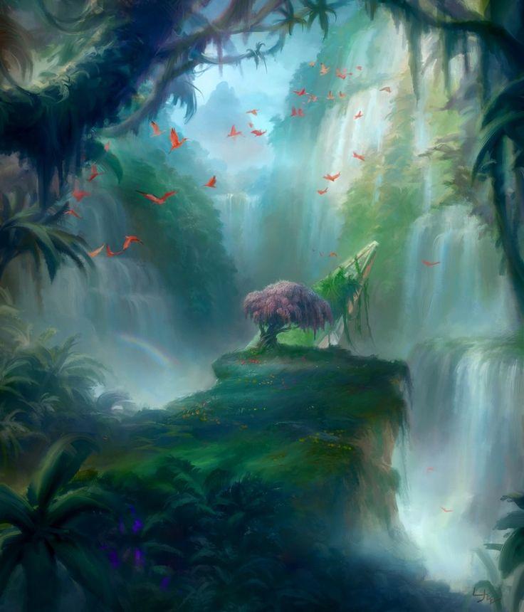 Misty Rainforest - Battle for Zendikar, an art print by Ryan Yee - INPRNT