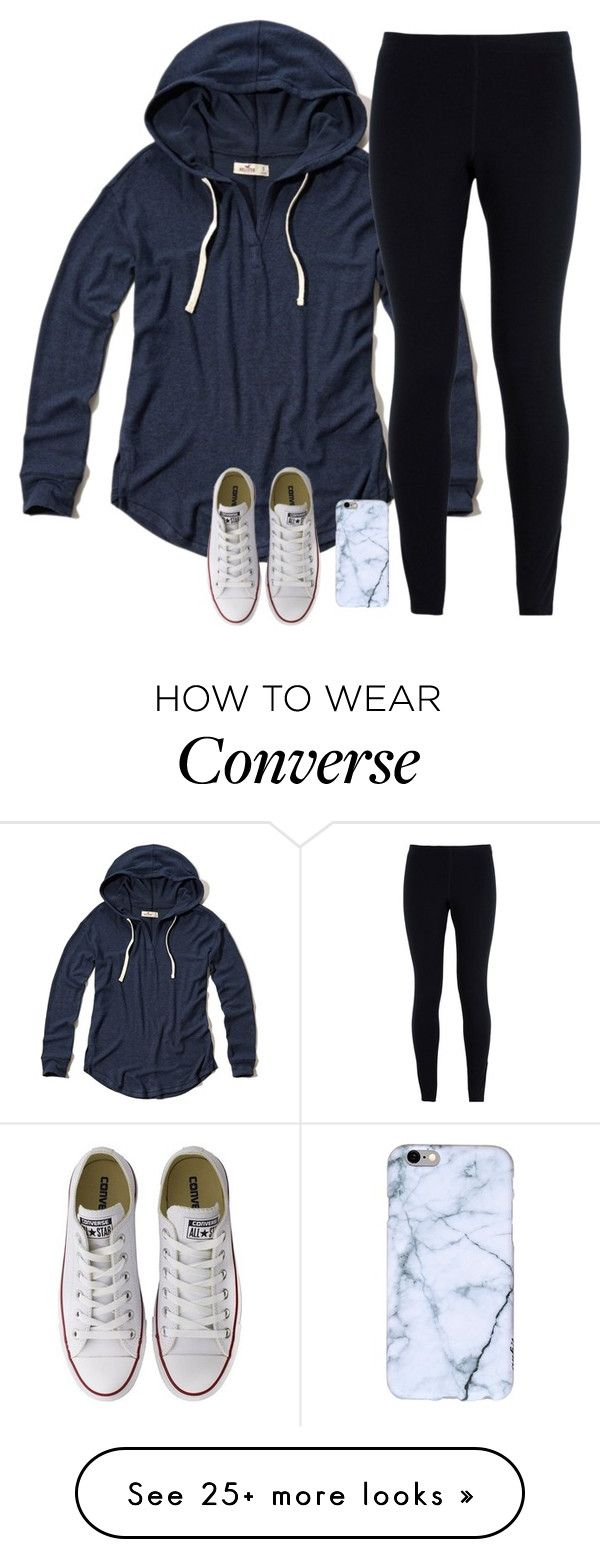 """Untitled #1629"" by southernstruttin on Polyvore featuring Hollister Co., NIKE and Converse"