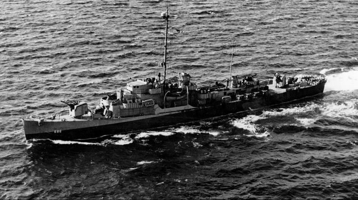 1945: This image shows US navy destroyer escort USS Eugene E Elmore, which sank the German U-boat that attacked one of the destroyers she was escorting. (Photo by Hulton Archive/Getty Images)   Vintage Photos of America's Heroic Ships   The Weather Channel