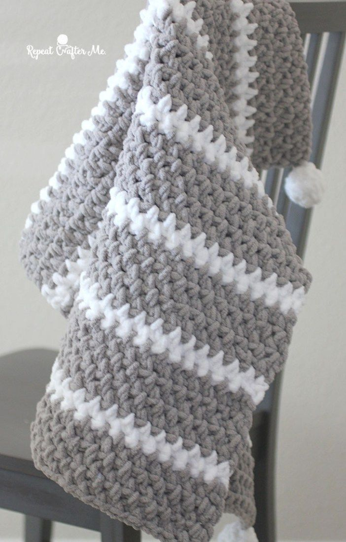 Quick And Easy Bernat Moss Stitch Baby Blanket Learn