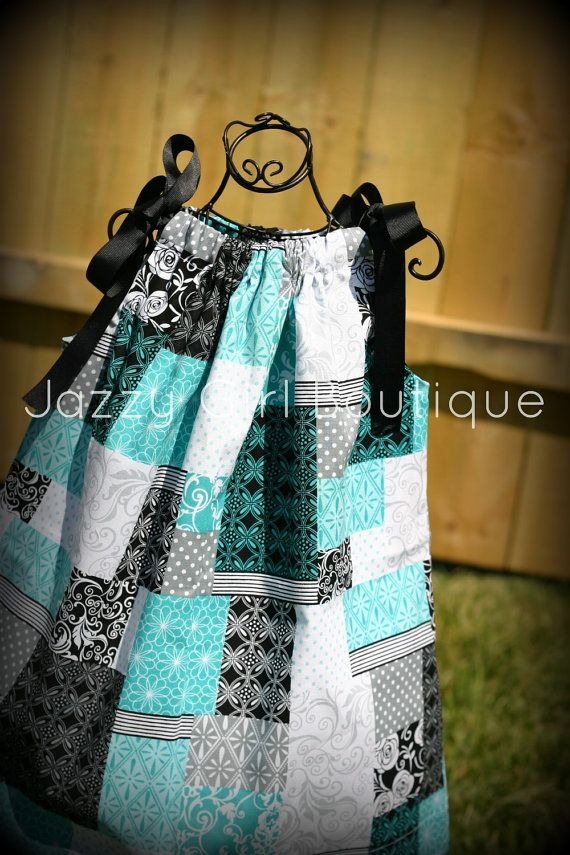 Girls Dress Pillowcase Style in Cherish Patch by JazzyGirlBoutique, $18.75