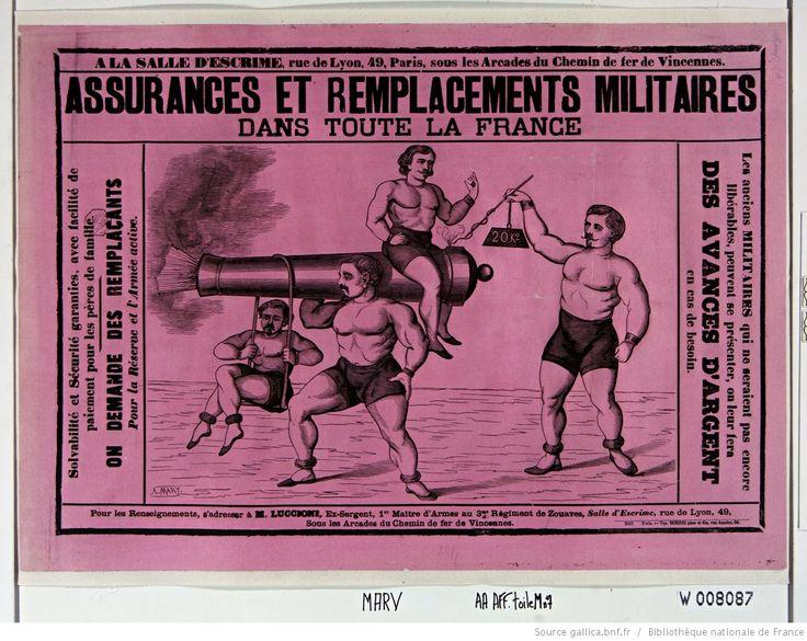 A la Salle d'escrime rue de Lyon, 49, Paris... Assurances et remplacements militaires dans toute la France... : [affiche] / [A. Mary]