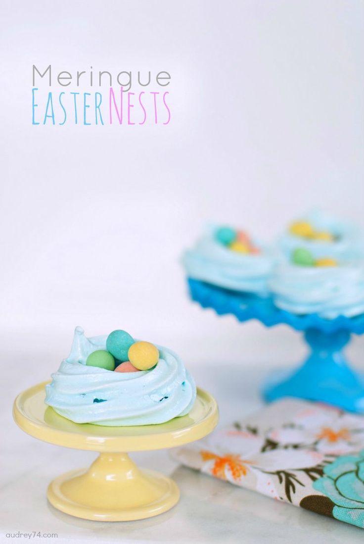 Meringue Easter Nests