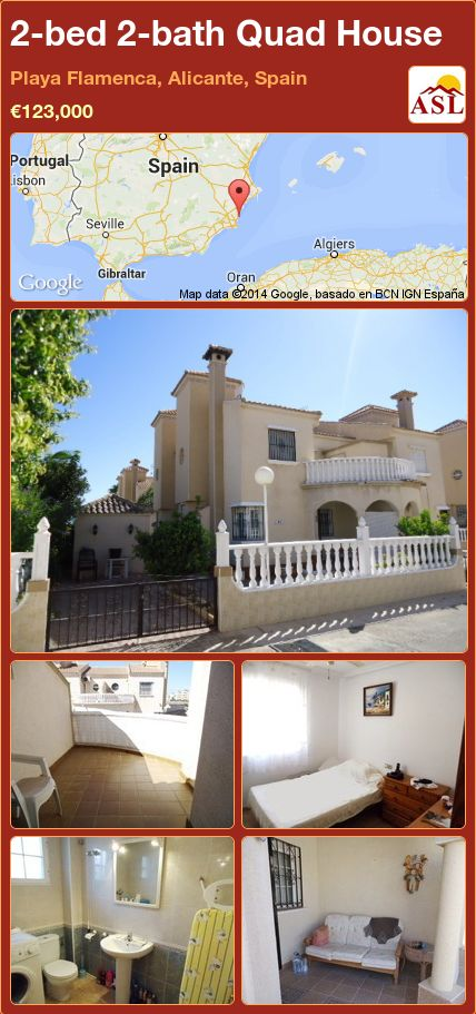 2-bed 2-bath Quad House in Playa Flamenca, Alicante, Spain ►€123,000 #PropertyForSaleInSpain