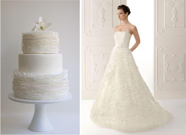 Fashion Inspired Wedding Cakes