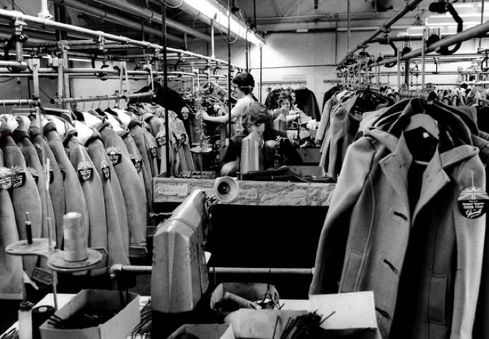 Gloverall Factory image from 1950