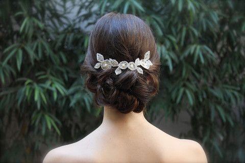 HEADPIECES La Cala hilos de plata - Tocados de novia originales