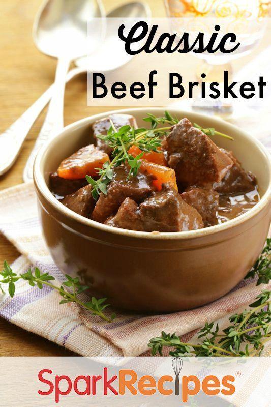 Grandma's Passover Brisket. This is THE best brisket recipe I've ever had!  via @SparkPeople #brisket #recipe #Passover