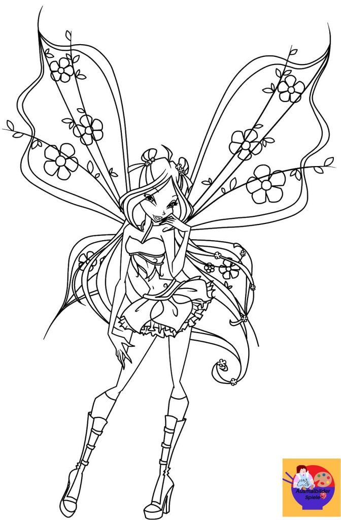 Ausmalbilder Winx Club Fairy Coloring Pages Fairy Coloring Fairy Coloring Book