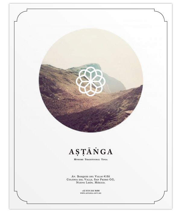 ASTANGA YOGA by Ricardo Ojeda, via Behance