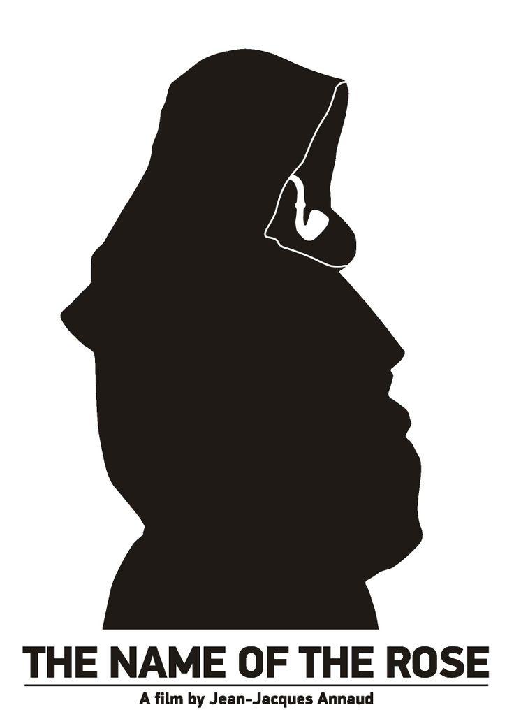 "Pictogram Movie Poster ""The Name of the Rose"". Tribute to Viktor Hertz."