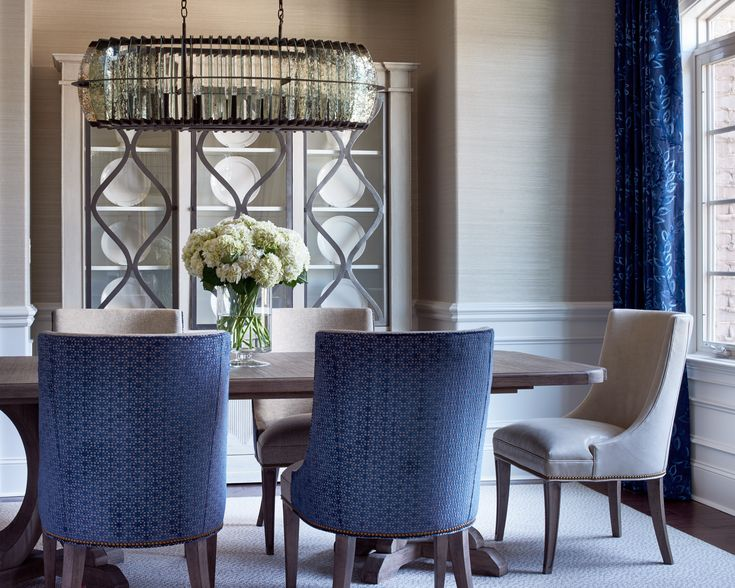 Traci Zeller Designs Blue CurtainsDining Room DesignDining RoomsCharlotte NcDesign Interiors