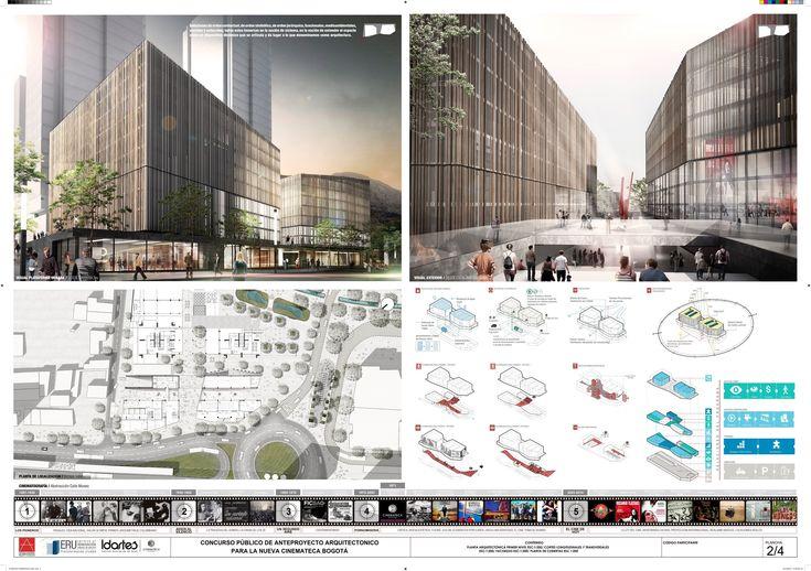 Primer Lugar en Concurso público del diseño de nueva cinemateca distrital de Bogotá / Colombia,Lámina 02. Image Cortesia de Colectivo 720