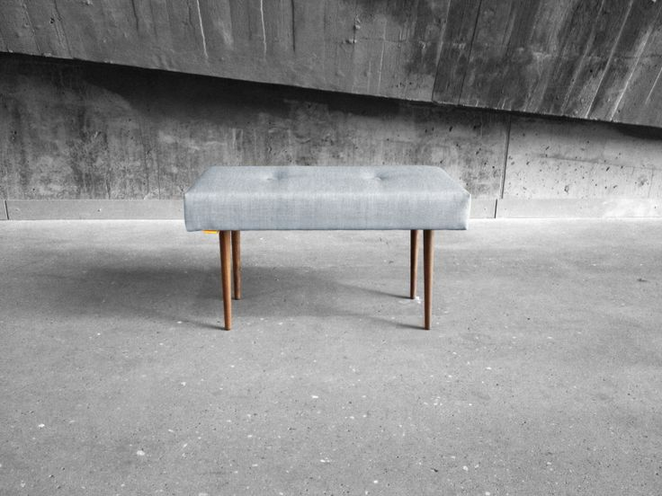 BENCH | take a seat | light grey with natural finish legs www.benchtakeaseat.com