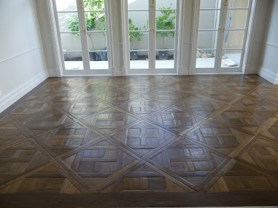 Petit Versailles parquet/Hand-scraped, fumed and oiled - MALVERN