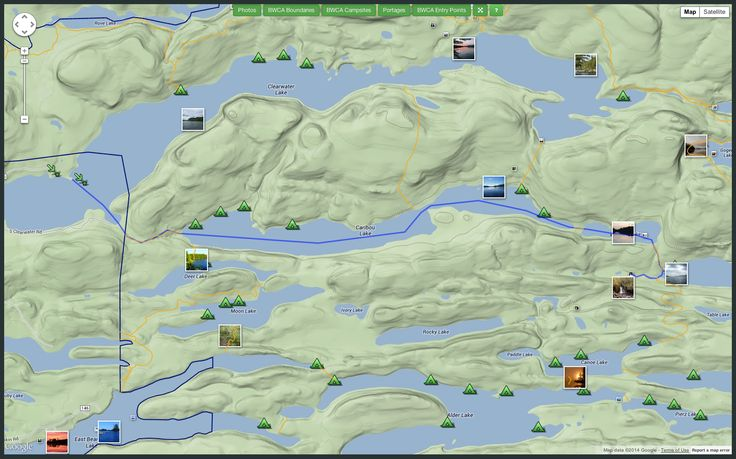 Interactive BWCA Maps & Route Planner