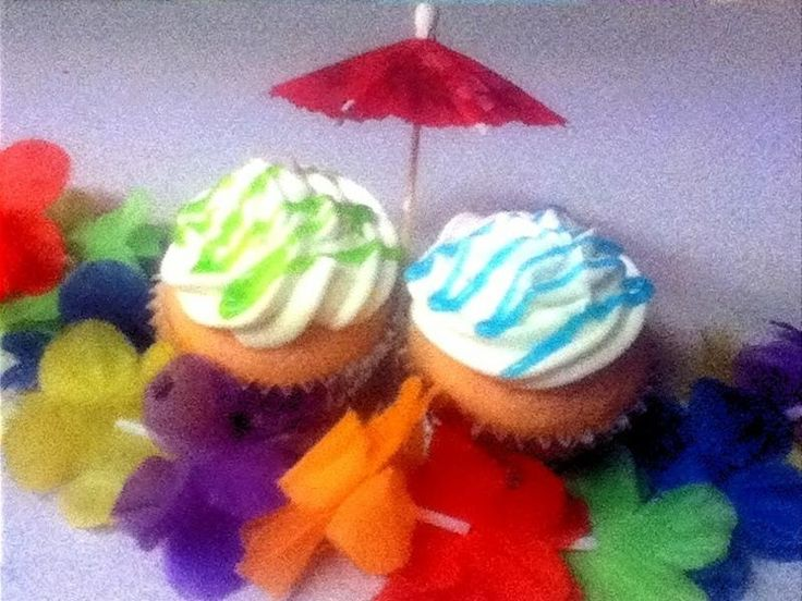 Fruit Punch Cupcakes