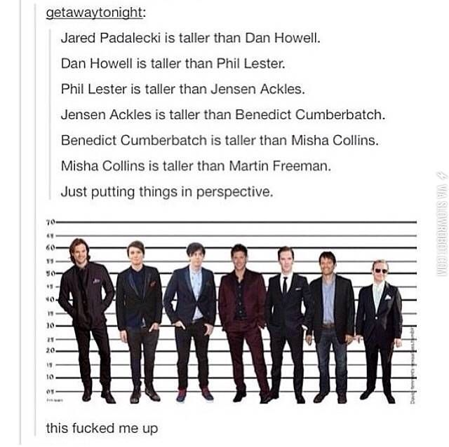 Jesus I'm 4'11. If I ever see them I'm prob gonna freak out over their height the most. They're all my favorite celebrities.