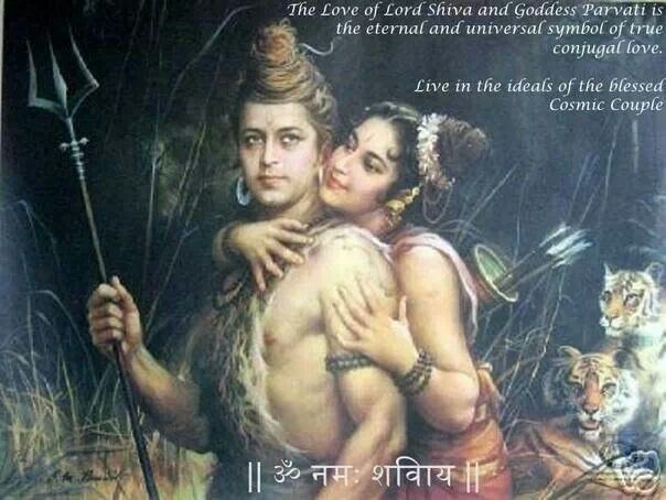 Eternal love of Lord Shiva and Goddess Parvati
