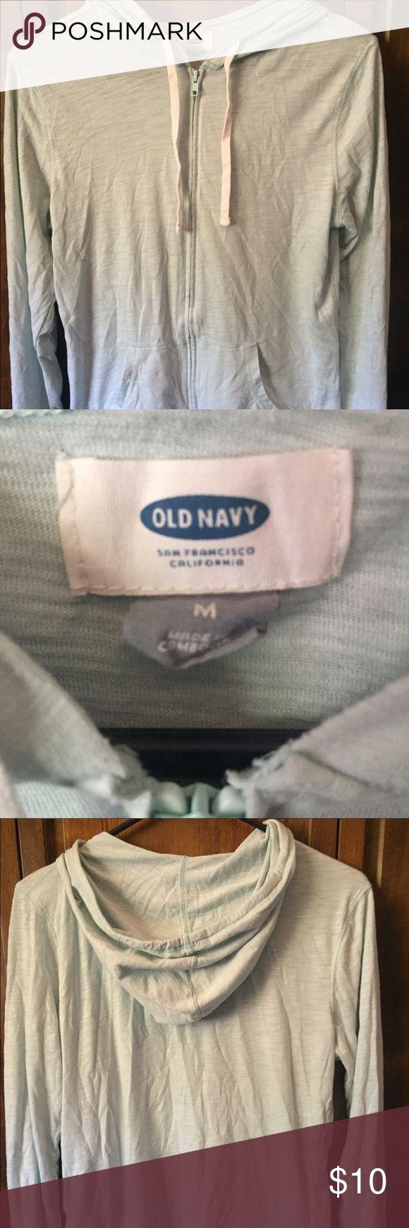 Old navy zip up hoodie Mint green lite old navy hoodie Old Navy Tops Sweatshirts & Hoodies
