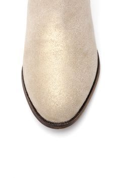 Botine aurii din piele naturala, marca Primichis.