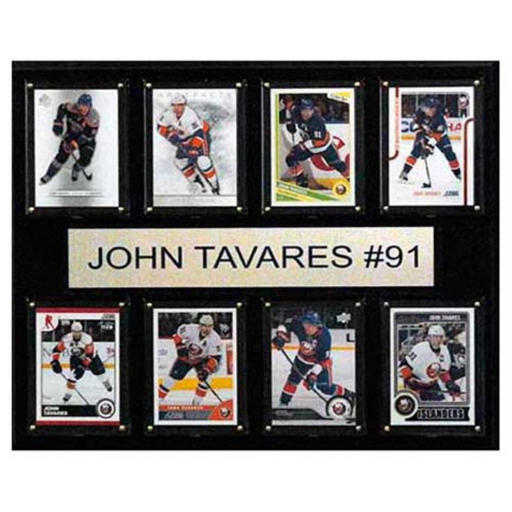 C and I Collectables NHL 15W x 12H in. John Tavares New York Islanders 8 Card Plaque - 1215TAVARES8C