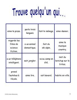 French Back to School Oral Activity