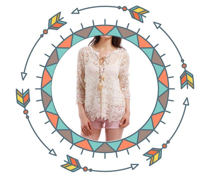 Crochet + Franges + Perles = le bon mix ! A retrouver sur lamodeuse.com #franges #perles #gypsy #boheme #summer #fashion