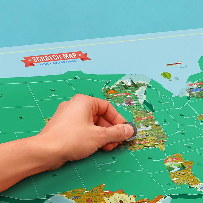 Scratch Map USA Landmarks 21 best Scratch